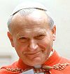 Jean-Paul II souriant